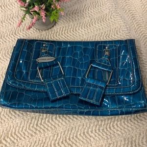Chinese Laundry Teal Clutch Purse